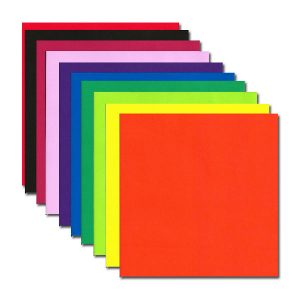 100 sheets Single Sided Origami paper 10 colours